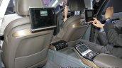 2018 Audi A8 seatback entertainment system at the IAA 2017