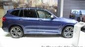2018 BMW X3 side profile at IAA 2017