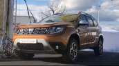 2018 Dacia Duster front snapped at an outdoor event
