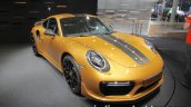 2018 Porsche 911 Turbo S Exclusive Series front quarter at the IAA 2017