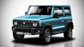 2018 Suzuki Jimny Render front three quarters blue