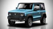 2018 Suzuki Jimny soft-top blue rendering
