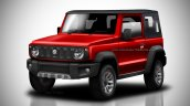 2018 Suzuki Jimny soft-top red rendering