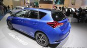 2018 Toyota Auris Hybrid rear three quarters at IAA 2017
