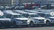 2018 Toyota Land Cruiser Prado dealership yard spy shot