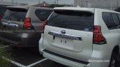 2018 Toyota Land Cruiser Prado (facelift) rear three quarters spy shot