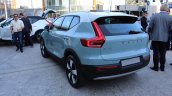2018 Volvo XC40 blue rear left quarter