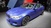 BMW M5 front three quarters at IAA 2017