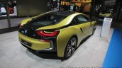 BMW i8 Protonic Frozen Yellow Edition rear three quarters showcased at IAA 2017