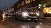 Camouflaged BMW X2 headlamp snapped Milano Fashion Show