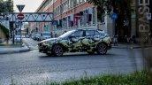Camouflaged BMW X2 wheel snapped Milano Fashion Show