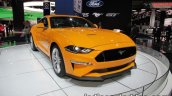 Euro-spec 2018 Ford Mustang GT front three quarters left showcased at IAA 2017