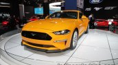 Euro-spec 2018 Ford Mustang GT front three quarters showcased at IAA 2017