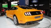 Euro-spec 2018 Ford Mustang GT rear three quarter left showcased at IAA 2017
