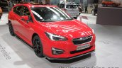 Euro-spec 2018 Subaru Impreza front quarter at the IAA 2017