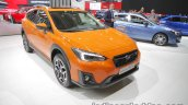 Euro-spec 2018 Subaru XV front quarter at the IAA 2017