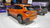 Euro-spec 2018 Subaru XV rear three quarter at the IAA 2017