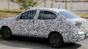 Fiato X6S (FIat Argo-based sedan) rear three quarters left side spy shot