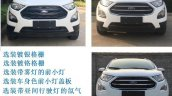 Ford EcoSport facelift China front variant comparison