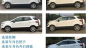 Ford EcoSport facelift China side view variant comparison