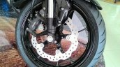 Honda CB150R ExMotion Live Images alloy wheels and brakes