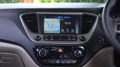 Hyundai Verna 2017 test drive review centre console