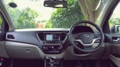 Hyundai Verna 2017 test drive review dashboard