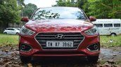 Hyundai Verna 2017 test drive review front view