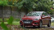Hyundai Verna 2017 test drive review left front three quarters