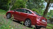 Hyundai Verna 2017 test drive review left rear side angle