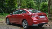 Hyundai Verna 2017 test drive review left rear three quarters