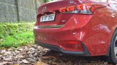 Hyundai Verna 2017 test drive review rear bumper