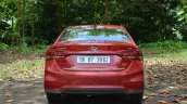 Hyundai Verna 2017 test drive review rear view