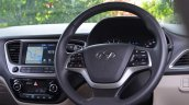 Hyundai Verna 2017 test drive review steering wheel