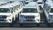 JDM-spec 2018 Toyota Land Cruiser Prado dealership yard spy shot