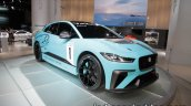 Jaguar i-Pace eTrophy front three quarters at the IAA 2017