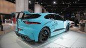 Jaguar i-Pace eTrophy rear three quarters at the IAA 2017
