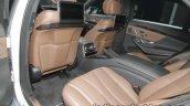 Mercedes-Benz S 560 e rear seat comfort at IAA 2017