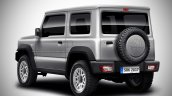 Rear of the 2018 Suzuki Jimny Rendered
