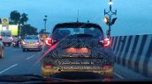 Renault Captur Spied rear view with LED tail lamp signature