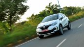 Renault Captur test drive review action shot front three quarters