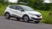 Renault Captur test drive review cornering shot