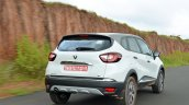 Renault Captur test drive review rear three quarters action shot
