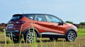 Renault Captur test drive review rear three quarters