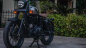 Royal Enfield Classic 500 RE-500 Basic by Rajputana Customs front left quarter
