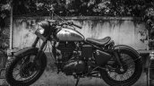 Royal Enfield Classic 500 RE-500 Basic by Rajputana Customs left side black and white