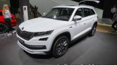Skoda Kodiaq Scout front three quarters at IAA 2017