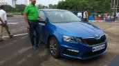 Skoda Octavia RS India launch blue colour
