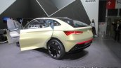 Skoda Vision E Concept rear three quarter at the 2017 IAA