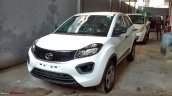 Tata Nexon XM front three quarters spy shot
